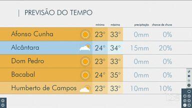 Veja as variações das temperaturas no Maranhão - Confira a previsão do tempo nesta quinta-feira (15) em São Luís e também no interior do estado.