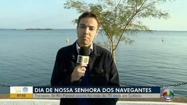Dia de Nossa Senhora dos Navegantes é lembrado com travessia no Rio Paraná - Evento é realizado há mais de 70 anos, em Presidente Epitácio.