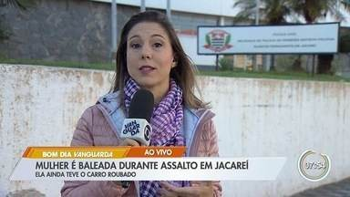 Mulher é baleada durante assalto em Jacareí - Crime aconteceu na noite desta quarta-feira.