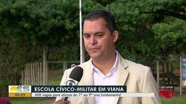 Viana, ES, terá escola Cívico-Militar - São 400 vagas para alunos do 1º ao 9º ano fundamental.