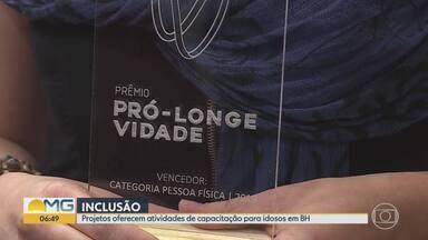Iniciativas para inclusão de idosos são premiadas em Belo Horizonte - Projetos oferecem atividades de capacitação para idosos na capital.
