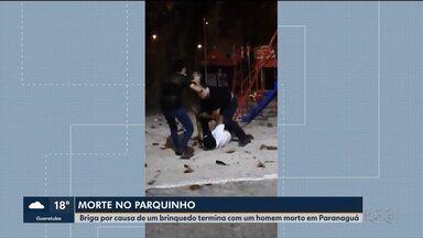 Briga em parquinho termina em morte, em Paranaguá - A briga começou porque a mulher do homem que foi morto usou o escorregador.