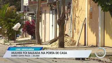 Moradora de Jacareí é baleada na porta de casa - Assaltante levou o carro dela.