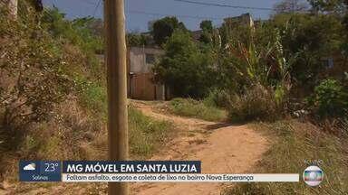 MG Móvel mais uma vez no bairro Nova Esperança, em Santa Luzia - Moradores continuam esperando melhorias no bairro