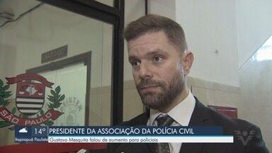 Presidente da Associação da Polícia Civil faz visita à região - Gustavo Mesquita falou de aumento para policiais e se reuniu com delegados da Baixada Santista e Vale do Ribeira.