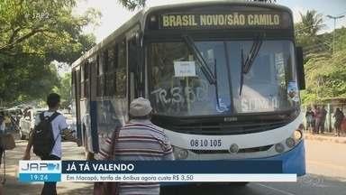 Inicia cobrança da tarifa de ônibus a R$ 3,50 em Macapá; reajuste foi decidido na Justiça - Meia-passagem ficou em R$ 1,75.