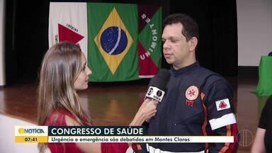 Congresso de Urgência e Emergência é realizado em Montes Claros - Evento segue até sábado (17).