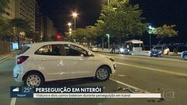 Perseguição policial em Niterói termina em acidente e com uma pessoa baleada - O caso aconteceu na madrugada deste sábado (17) na orla de Icaraí.