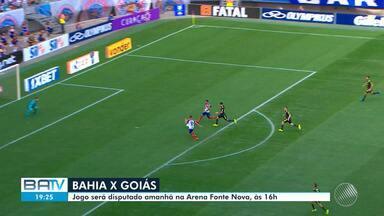 Bahia encara o Goiás, e o Vitória joga contra o CRB no domingo (18) - Para a partida do tricolor na Fonte Nova quase 30 mil ingressos ja foram vendidos.