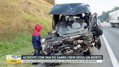 Acidente com a van da banda Sampa Crew - Carro que bateu de frente com a van estava na contramão e o motorista morreu na hora; outras 10 pessoas ficaram feridas