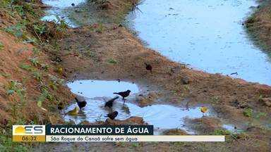 São Roque do Canaã, ES, sofre com racionamento de água - Moradores vivem um drama e estão há dois meses sofrendo com o racionamento de água sem previsão de quando isso vai acabar.