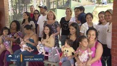 Hora do Mamaço promove troca de experiências entre mães em São Vicente, SP - Encontro ocorreu no Parque Ecológico da cidade.
