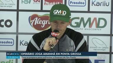Operário se prepara para enfrentar o Guarani de São Paulo nesta terça-feira (20) - Jogo vai ser no Germano Krüger, às 19h15.