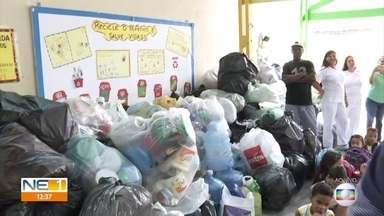 Escolas do Recife participam de gincana e recolhem embalagens plásticas - Comunidade que recolher mais material ganha série de obras.
