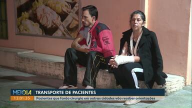 """Pacientes de Cascavel que farão cirurgia em outra cidade vão receber ficha com orientações - Decisão da secretaria de Saúde foi feita depois que alguns pacientes foram """"esquecidos"""" em Curitiba."""