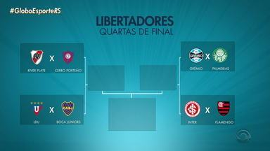 Confira os jogos das quartas de final da Libertadores - Assista ao vídeo.