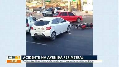 Homem morre em acidente em Barbalha; motociclista fica ferido em acidente no Crato - Saiba mais em g1.com.br/ce