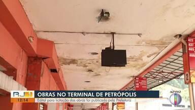 Edital pra licitação de obras no terminal de Petrópolis é publicado pela Prefeitura - Cerca de 40 mil pessoas passam pela rodoviária.