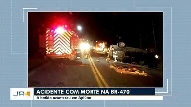 Homem de 40 anos morre em acidente na BR-470 em Apiúna - Homem de 40 anos morre em acidente na BR-470 em Apiúna