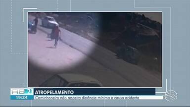 Vídeo mostra atropelamento em Tabira - Acidente aconteceu na manhã desta terça-feira (20).