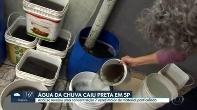 Água da chuva caiu preta em São Paulo - Análise revelou uma concentração 7 vezes maior de material particulado.