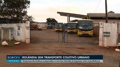 Ônibus do transporte coletivo de Rolândia devem voltar a circular nesta quarta-feira (21) - A promessa foi da própria empresa. Durante esta terça-feira (20) os ônibus não circularam.