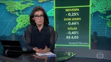 Medo de desaceleração mundial faz bolsas nos EUA e no Brasil caírem - Trump diz que pode reduzir impostos para estimular a economia americana.