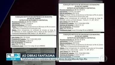 Pelo segundo dia seguido, prefeitura publica contratos de obras sem licitação da planilha - No Diário Oficial do Rio desta terça (20), estão três contratos de três obras, todas na região da Niemeyer. O valor em mais de R$15 milhões.