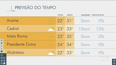 Veja as variações das temperaturas no Maranhão - Confira a previsão do tempo nesta quarta-feira (21) em São Luís e também no interior do estado.