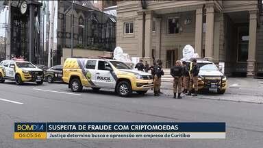 Justiça determina busca e apreensão em empresa de Curitiba - A suspeita é de fraude com criptomoedas.
