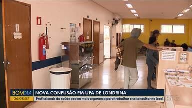 Profissionais da saúde pedem mais segurança para trabalhar e se consultar no local - Eles reclamam de brigas em postos de saúde de Londrina.