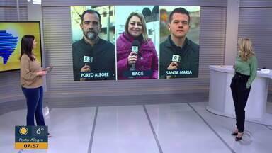 Giro de notícias: confira informações de Bagé e Santa Maria - Assista ao vídeo.
