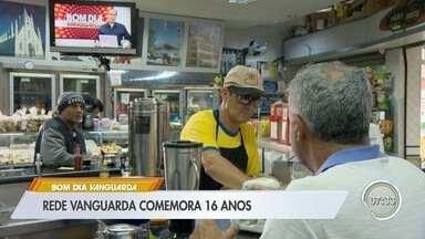 Rede Vanguarda celebra 16 anos - Telejornais contam cada vez mais com participação do público.