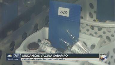 Ministério da Saúde anuncia mudanças na vacinação contra o sarampo - São Carlos, Araras, Rio Claro e São João da Boa Vista têm casos confirmados da doença.