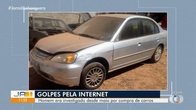Polícia prende suspeito de golpe por sites de vendas, em Goiânia - As investigações apontaram que o preso passava a perna em quem tentava comprar carros pela web.