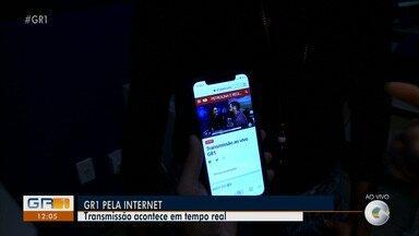Público pode acompanhar telejornais da TV Grade Rio ao vivo na internet pelo G1 Petrolina - O repórter Paulo Ricardo Sobral mostra como acessar a transmissão em tempo real.