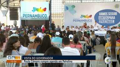 Governador Paulo Câmara cumpre agenda em Petrolina - O governador vai fazer a abertura do seminário 'Todos por Pernambuco'.