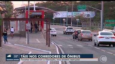 Taxistas comemoram acesso a corredores de ônibus - Taxistas comemoram acesso a corredores de ônibus
