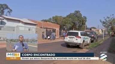 Homem que estava desaparecido é encontrado morto no Jd. Seminário, na Capital - Corpo foi encontrado em imóvel em construção