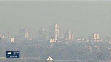 Fumaça encobre Corumbá há quatro dias - Resultado de incêndios no Pantanal
