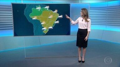 Tempo seco predomina nesta quinta - Possibilidade de pancadas de chuva entre o Rio e o Espírito Santo.