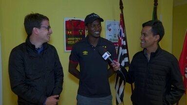 Hyuri fala com Globo Esporte direto de Sorocaba, onde Sport se prepara para pegar a Ponte - Hyuri fala com Globo Esporte direto de Sorocaba, onde Sport se prepara para pegar a Ponte