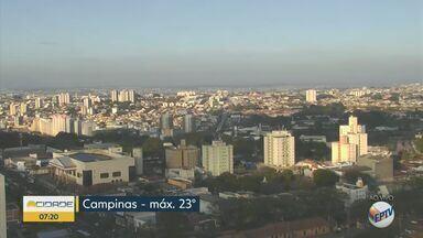 Campinas tem máxima de 23°C nesta quinta-feira (22) - Sem previsão de chuva.
