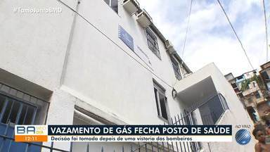 Bombeiros fazem vistoria e posto de saúde é fechado após vazamento de gás - Ainda não já previsão de quando a unidade será reaberta.
