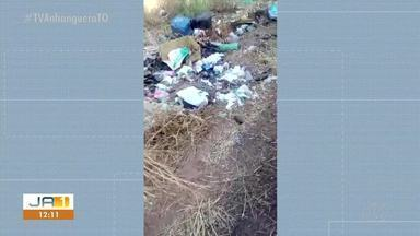 Moradores denunciam mau cheiro de lixo a céu aberto em bairro de Paraíso - Moradores denunciam mau cheiro de lixo a céu aberto em bairro de Paraíso
