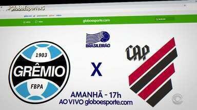 Veja como assistir Grêmio X Athlético-PR no site do GloboEsporte.com - Assista ao vídeo.