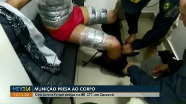 Jovens são presos com munição presa ao corpo - PRF encontrou mais de 5 mil munições.