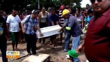 Maria Ester. Enterro é marcado por tristeza e gritos de justiça - Saiba mais em g1.com.br/ce