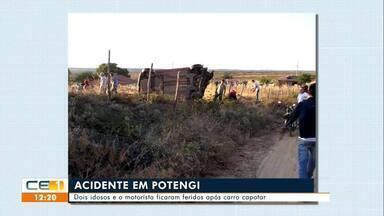 Acidentes em Potengi e Assaré deixam várias pessoas feridas - Saiba mais em g1.com.br/ce