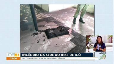 Incêndio na sede do INSS de Icó; homem é morto dentro de um bar em Tauá - Saiba mais em g1.com.br/ce